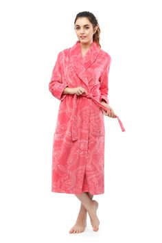 378e14bdba Paisley Printed Burnout Royal Plush Robe