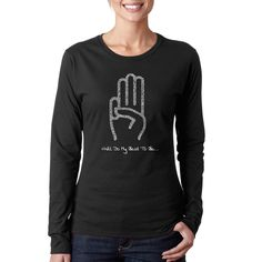 Los Angeles Pop Art Women's Girl Scout Law /Pink Long-sleeved T-shirt