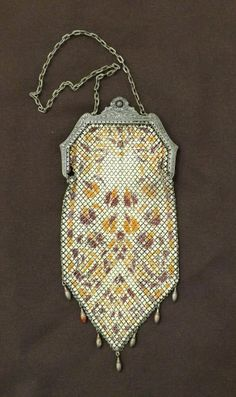 Vintage 1920s Mandalian Enamel Mesh Purse_ by GoldenBeeAntiques, $68.00