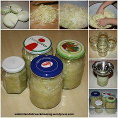 Sauerkraut im Glas selbst gemacht - Sauerkraut selber machen - konservieren - einkochen