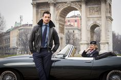 In this handout image supplied by British Airways the airline celebrated its love of Milan by taking British supermodels Suki Waterhouse and David Gandy out onto the city's fashionable streets for two very special photoshoots - followed by an exclusive fashion show and very British afternoon tea experience on February 23, 2017 in Milan, Italy.