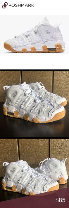 more photos 1a7da 4fc70 Nike Air More Uptempo White Gum Basketball Shoes Brand   Nike Color    White Gum
