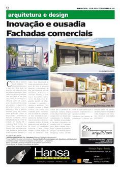 14° Publicação Jornal bom dia – Inovação e ousadia, Fachadas comerciais  02 -12-11