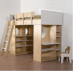 storage and stability - Children's Furniture: Dumbo Loft Bed from Casa Kids : Remodelista