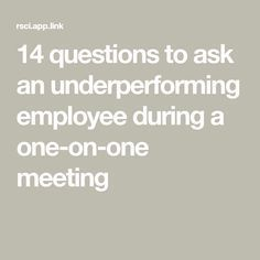 14 questions to ask an underperforming employee during a one-on-one meeting - Dehily Leadership Coaching, Leadership Development, Professional Development, Educational Leadership, Leadership Qualities, Coaching Quotes, Leadership Activities, School Leadership, Educational Technology