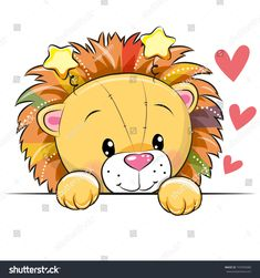 Illustration about Cute Cartoon Lion with hearts on a white background. Illustration of celebrations, computer, design - 103474639 Kids Cartoon Characters, Cartoon Lion, Cute Cartoon Animals, Clipart, Sleeping Lion, Lion Illustration, Cute Lion, Belly Painting, Face Painting Designs