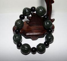 "0.8""China Certify Nature Nephrite Hetian Jade Dark Green Lucky Walnut Bracelets Bangle Bracelets, Jade, China, Green, Nature, Ebay, Bangles, Bangle Bracelet, The Great Outdoors"