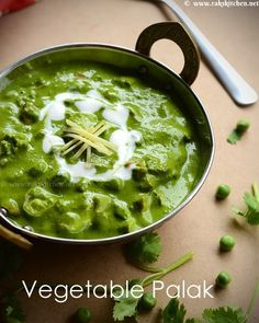 Mixed vegetable palak is made by adding your favorite veg in palak gravy. it's great alternate for paneer. Paneer Recipes, Vegetable Recipes, Indian Food Recipes, Vegetarian Recipes, Cooking Recipes, Ethnic Recipes, Palak Paratha, Veg Dishes