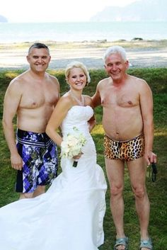 OMG ... more eye bleach!! Which one is the groom?