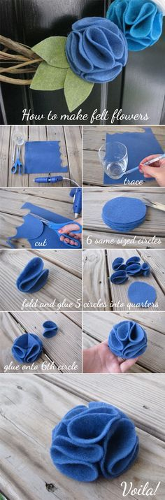 Everyday Ebullience: diy: felt flowers!