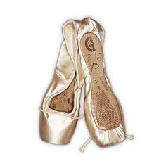 Dame Margot Fonteyn`s Freed pointe shoes.