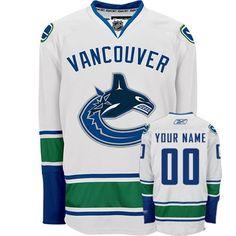 e878b844276 Canucks Personalized Authentic White NHL Jersey (S-3XL) Nhl Hockey Jerseys
