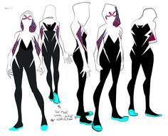 More Gwen Stacey as Spider Woman - one of the coolest designs I've seen for a spider person ever