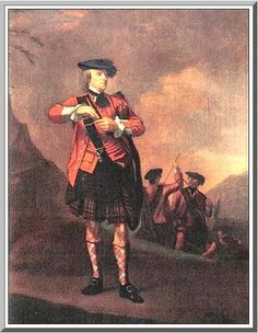 Ensign Malcolm MacPherson of Phonees, 78th foot-Fraser's Highlanders c1760