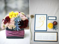 """Yarn!!!  So cute and cozy for a fall wedding without being """"fall!""""  And would honor my mother and her love of knitting"""