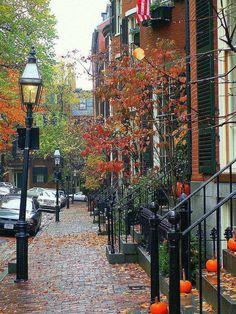 City street in Fall