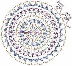 Znalezione obrazy dla zapytania mandalas tejidos al crochet patrones Crochet Mandala Pattern, Crochet Doily Patterns, Crochet Diagram, Crochet Chart, Crochet Squares, Crochet Doilies, Granny Squares, Crochet Diy, Crochet Amigurumi