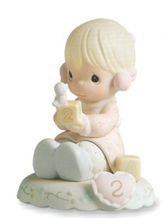 Precious Moments Age 2 - Blonde is from the popular Precious Moments Growing in Grace Series. $25.00