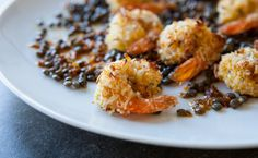 Lunch/Dinner: Epicure's Le Taj Coconut Shrimp calories/serving) serve with side veggies and quinoa or brown rice Easy Healthy Recipes, Great Recipes, Snack Recipes, Favorite Recipes, Snacks, Healthy Eats, Epicure Recipes, Seafood Recipes, Seafood Dishes