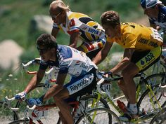 Pedro Delgado, Laurent Fignon, Greg Lemond (Tour 1989)  (Source: beautenebreux)