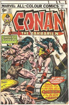 Conan The Barbarian. Vol. 1, No. 58. U.S. Marvel Comic. Jan. 1976.