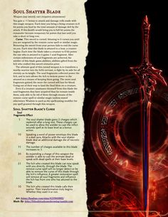 Homebrewing gear Heres a sword. Have a great night guys. Ima watch Sam Riegel GMing for a few hours Dnd Dragons, Dungeons And Dragons Characters, D&d Dungeons And Dragons, Dnd Characters, Fantasy Weapons, Fantasy Rpg, Dungeon Master's Guide, Dnd Classes, Dnd Funny