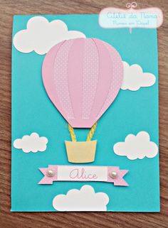 Birthday Balloons, Baby Shower Balloons, Baby Cards, Kids Cards, Diy Arts And Crafts, Paper Crafts, File Decoration Ideas, Diy For Kids, Crafts For Kids