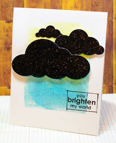 Cool card by Tobi Crawford! She used the watercolor crayons from TechniqueTuesday.com to create her background. Really cool effect!