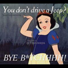 You'll never look at Disney princesses the same way again.  #trailjeeps #offroad #fourwheeling #4x4 #jku #rockcrawling #jeep #itsajeepthing #meme #myjeepbuild #jeepbeef #Padgram