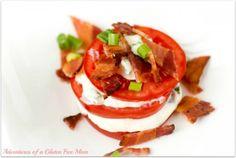 """Bacon Mozzarella Tomato """"sandwiches"""" and great gluten free blog"""