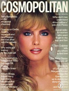 Kim Alexis on the cover of Cosmo, 1980.