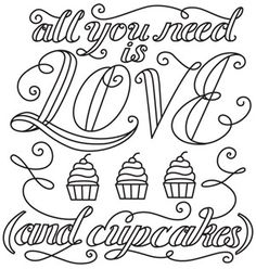 Every once in awhile Urban Threads puts out a free pattern. I <3 Urban Threads. This definitely isn't your Grandma's embroidery, ;) Love and Cupcakes | Urban Threads: Unique and Awesome Embroidery Designs