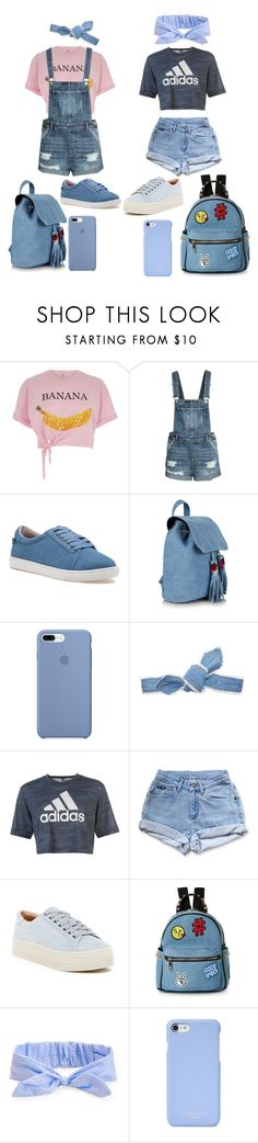 """""""Bff Denim"""" by septum-scorpio ❤ liked on Polyvore featuring River Island, J/Slides, Colette Malouf, adidas, Levi's, Marc Fisher LTD, IMoshion, Aéropostale and Aspinal of London"""