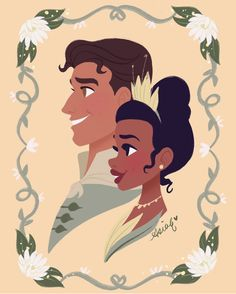 Sorry for my absence in posts! Here's probably the most anticipated couple (especially because they're my mom's favorite too 😊) Tiana &… Tiana Disney, Walt Disney, Disney Nerd, Disney Couples, Disney Fan Art, Disney Girls, Disney Princesses, Disney Love, Disney Magic