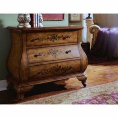 Pulaski Scalloped Bombe Chest of Drawers - Pulaski Furniture - 599268 - Bombe Chest, Bombay Chest