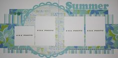 Scrapbooking Layouts   Scrapbooking for Others: Premade SUMMER Scrapbook Page Layout for sale
