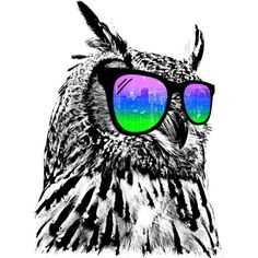 Cool Owl is a T Shirt designed by clingcling to illustrate your life and is available at Design By Humans