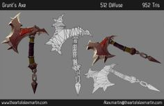 Handpainted WoW-Style Weapons - Polycount Forum