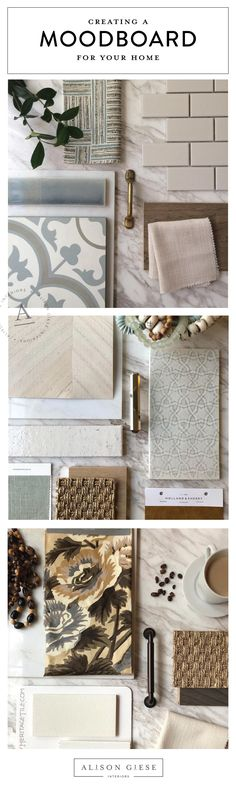 Learn how to put together a mood board to help set the stage for the design of your space. Alison Giese Interiors