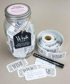 Happy Birthday Wish Jar