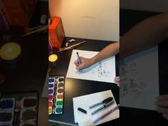 Mel Paints... Rambling on as usual... Using a Sharpie and Watercolor paint - YouTube Pen And Watercolor, Watercolour Painting, Sharpie Pens, Zen, Abstract Art, Poetry, Healing, Thoughts, Writing