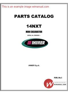 Terex Mini Excavator Tc35 Parts Manuals pdf download. This