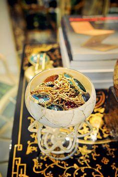 jewels in jewel tones  -via Sea of Shoes