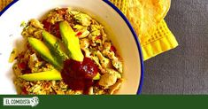 Tofu Blando, Frijoles Refritos, Arroz Frito, Salsa Picante, Comida Latina, Egg Recipes, Eggs, Cooking, Healthy