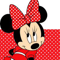 Minnie in Red Free Printable Notebook.