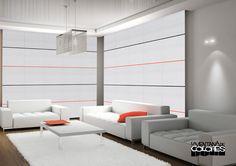 Paneles japoneses personalizados con varillas de colores. Puedes colocarlas en la posición que desees y colorearlas en más de 50 colores. http://www.laventanadecolores.es/