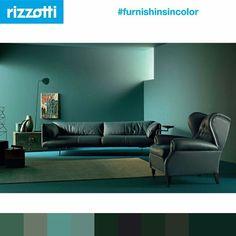 1919 Poltrona by Frau di sedute disegnato da Renzo Frau Seguite il nostro canale instagram dedicato alle palette colori @furnishingsincolor #rizzotti #furnishingsincolor