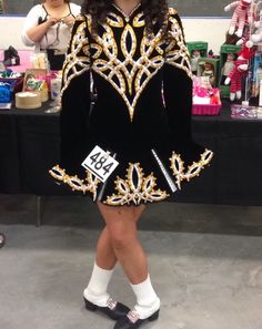 Black And Gold Irish Dance Dress
