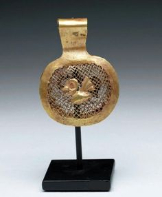 This wearable Paracas Gold jaguar/bird pendant is over 2,000 years old!
