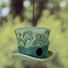 Mad Hatter Birdhouse- This one is special since my daughter is . . . how shall we say . . . VERRY close friends with Alice